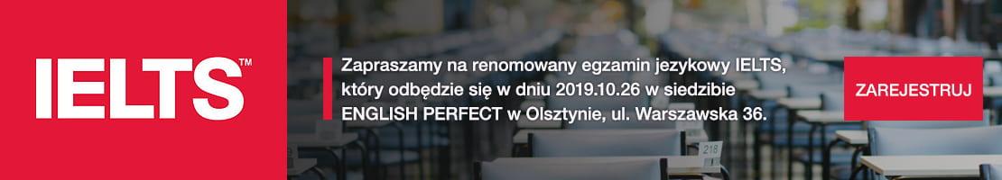 Egzamin IELTS w Olsztynie w siedzibie English Perfect
